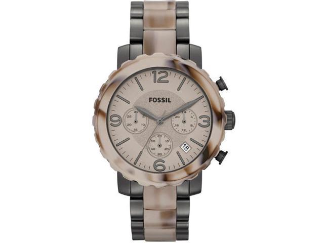 Fossil Men's Natalie JR1383 Two-Tone Stainless-Steel Analog Quartz Watch with Beige Dial
