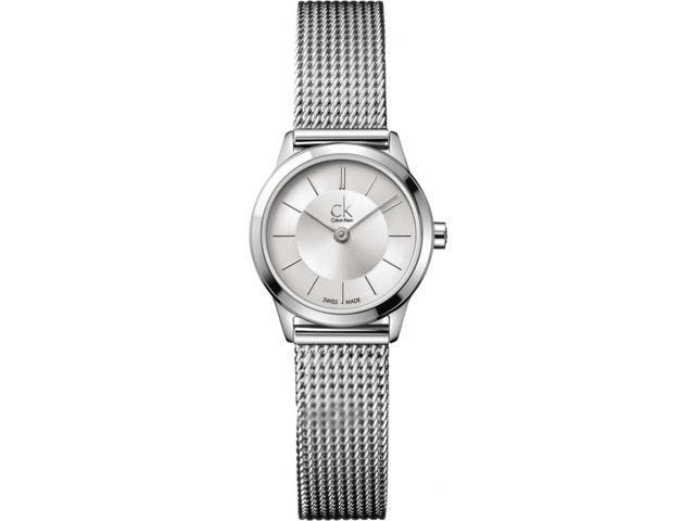 Women's Calvin Klein ck Minimal Mesh Band Watch K3M23126