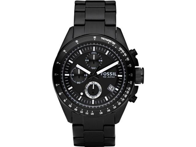Fossil Chronograph Black Ion-plated Mens Watch CH2601