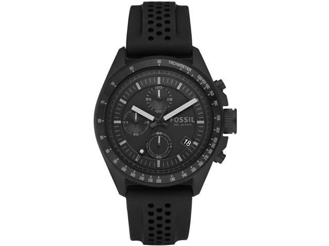 Fossil Decker Rubber Band Black Dial Mens Watch CH2703