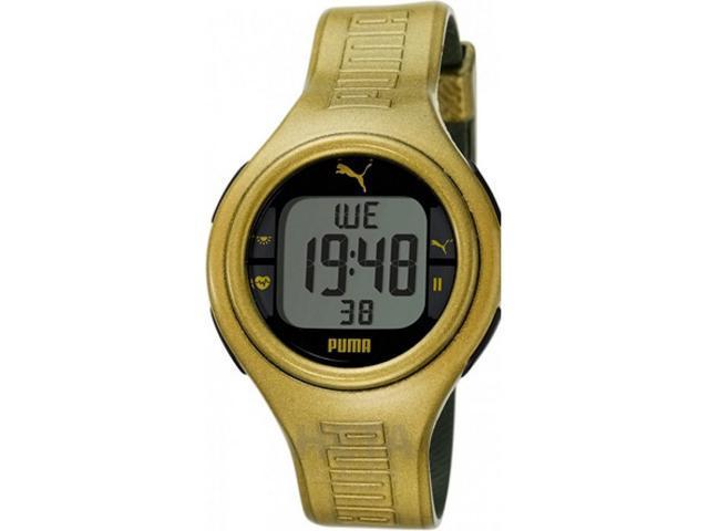 Puma Men's PU910541007 Gold Polyurethane Quartz Watch with Black Dial
