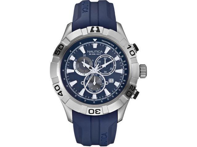 Nautica Men's N18626G Blue Resin Quartz Watch with Blue Dial