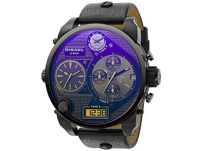 Diesel SBA Chronograph Blue/Black Dial Analog Digital Mens Watch DZ7127