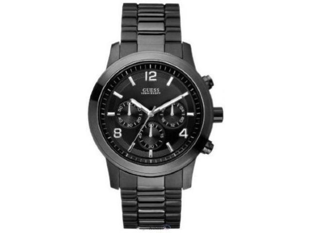 Guess Bold Contemporary Waterpro Chronograph Black Mens Watch U15061G1