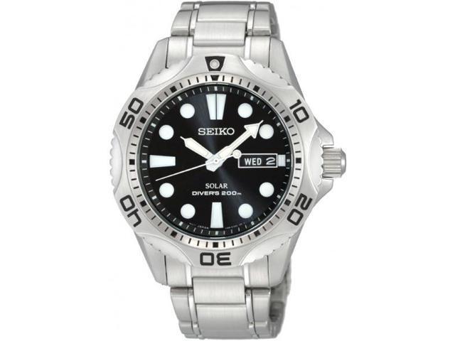 Seiko Divers Black Dial Men's Watch #SNE107