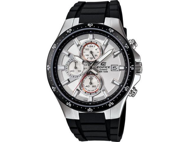 Casio EFR-519-7AV White/Black Edifice Chronograph Stainless Steel/Resin Watch
