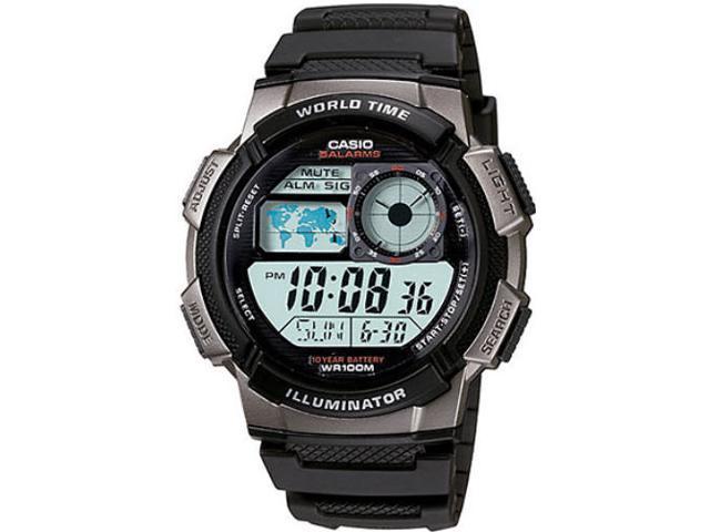 Casio Illuminator World Time Digital Grey Dial Men's watch #AE1000W-1BV