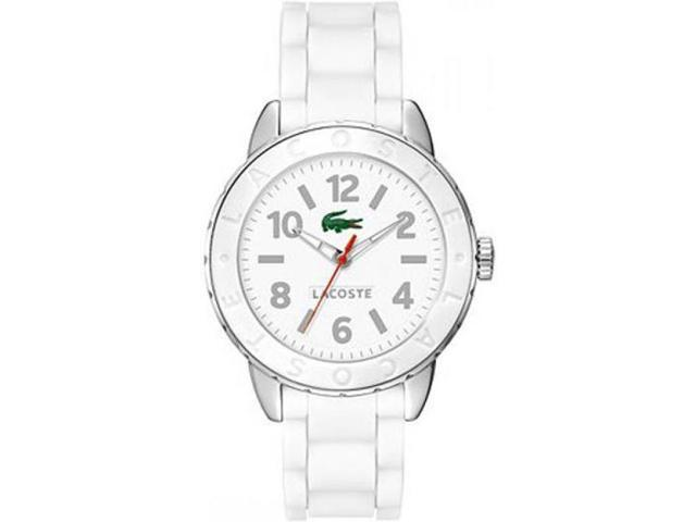 LACOSTE WHITE RUBBER STRAP 50M LADIES WATCH