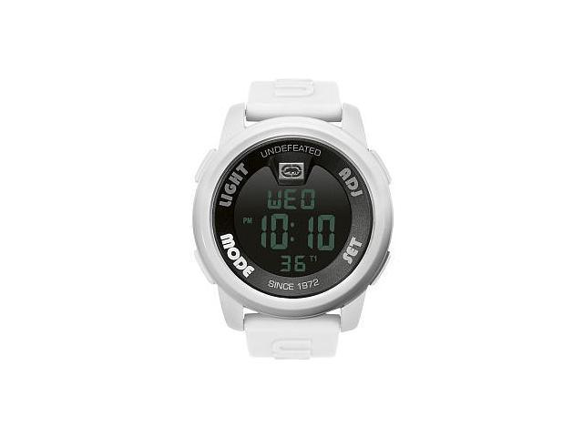 Marc Ecko Men's E07503G2 White Resin Quartz Watch with Black Dial