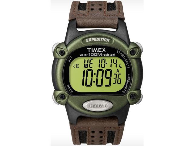 Timex Men's Expedition | Brown Leather Strap | Digital Rugged Watch T48042
