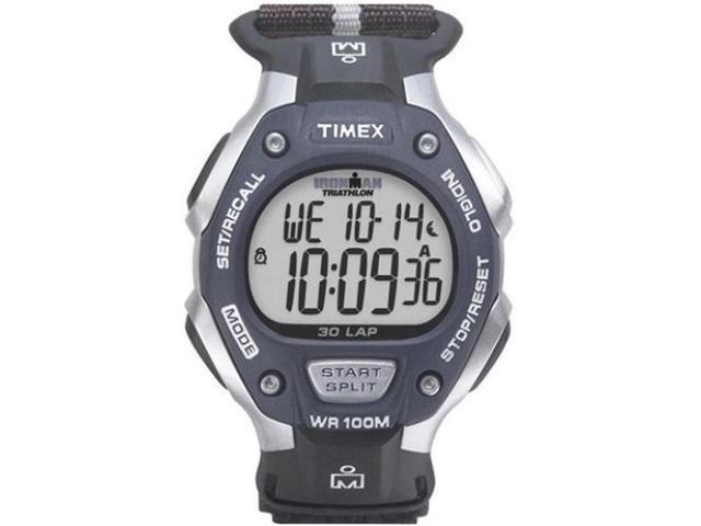 Timex Men's Ironman Classic | 30-Lap Full Size Black/Gray Case & Strap | T5H421