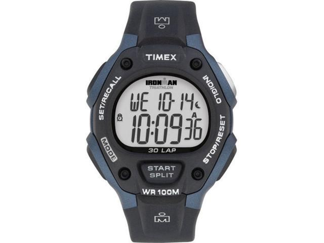 Timex Men's T5H591 Black Polyurethane Quartz Watch with Grey Dial