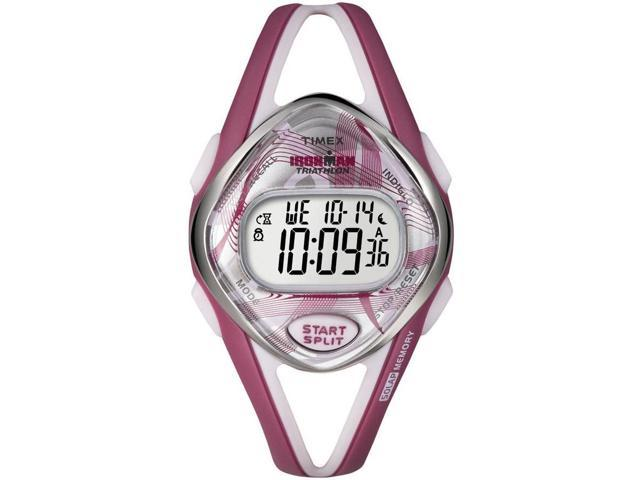 Timex Ironman Sleek 50-Lap Mid Size Watch - Pink Swirl