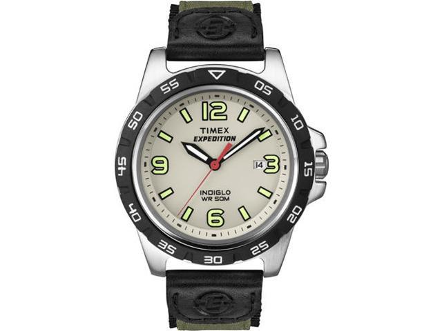 Timex Men's Expedition | Green Strap Silver-Tone Case | Durable Watch T49884