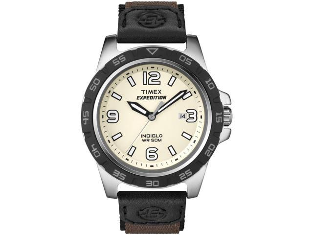 Timex Men's Expedition T49886 Black Nylon Quartz Watch with White Dial
