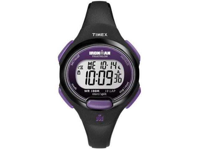 Timex Women's Ironman T5K523 Black Resin Quartz Watch with Silver Dial