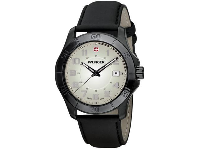 Wenger Alpine PVD-coated Steel Moss Green Dial Men's watch #70474