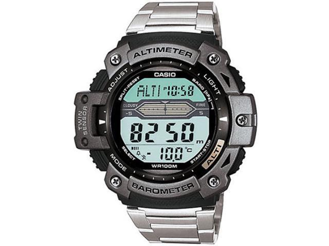 Casio Mens Twin Sensor Multi-Function Analog Digital Watch Silver - SGW300HD-1AV