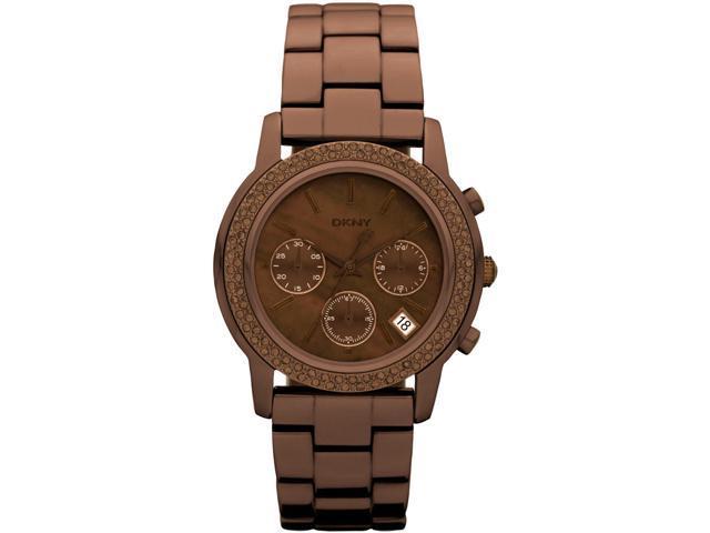 Women's Brown DKNY Chronograph Glitz Watch NY8539