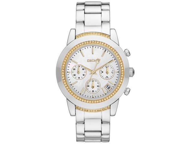 Women's DKNY Chronograph Crystallized Stainless Steel Watch NY8588