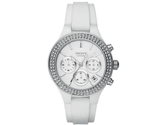 DKNY White Ceramic Chronograph Ladies Watch NY8184