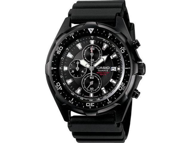 Men's Black Casio Diver's Chronograph Watch AMW330B-1AV