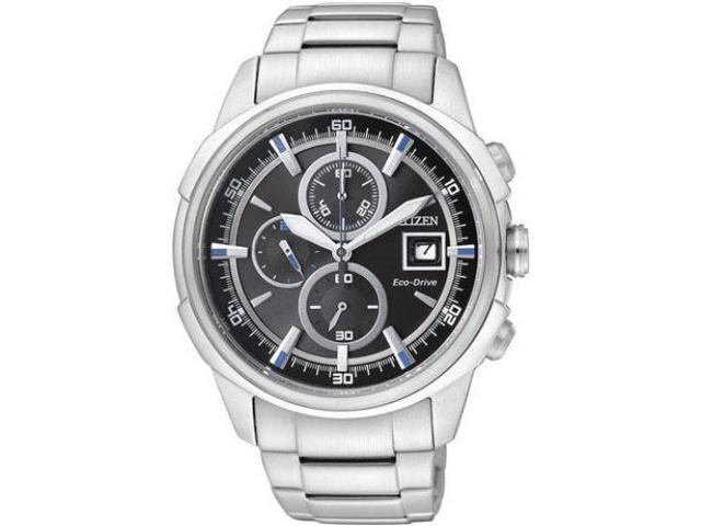 Men's Citizen Eco-Drive Chronograph Steel Watch CA0370-54E