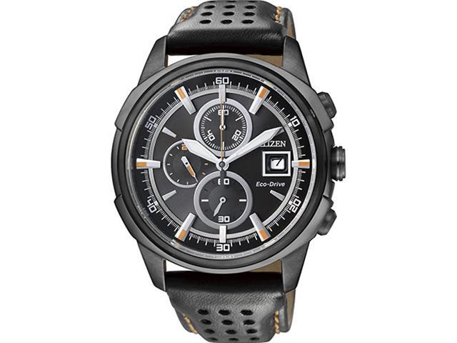 Men's Citizen Eco-Drive Stealth Chronograph Watch CA0375-00E