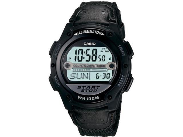 Mns Easy Touch Digital Watch Cloth Strap 60 Lap Memory