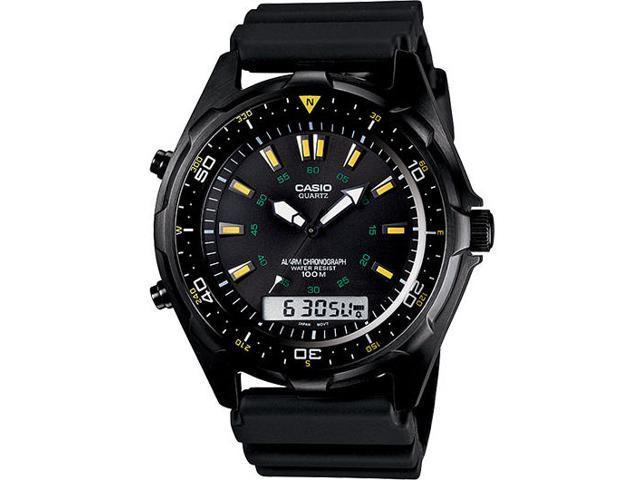 Casio AMW-360B-1A1V Men's Chronograph Analog & Digital Resin Strap Sports Watch