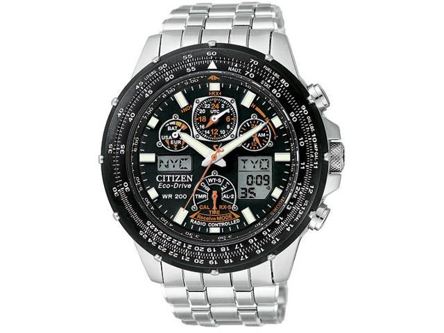 Citizen Skyhawk A-T Stainless Steel Chronograph Atomic Mens Watch JY0000-53E