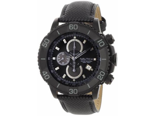 Nautica Men's NST 500 Chronograph Sport Classic Analog w/ Black Dial - N20062G