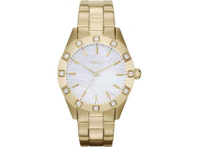 Women's DKNY Gold Tone Steel Mother Of Pearl Dial Watch NY8661