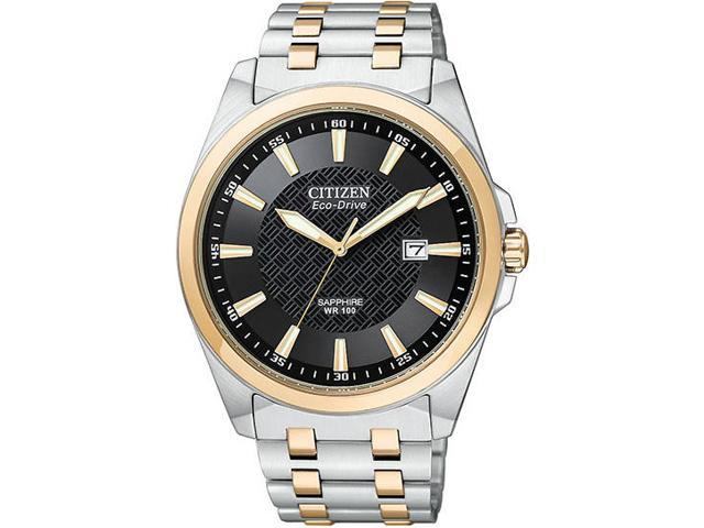 Citizen Eco-Drive WR100 Sapphire Glass Black Dial Men's watch #BM7106-52E