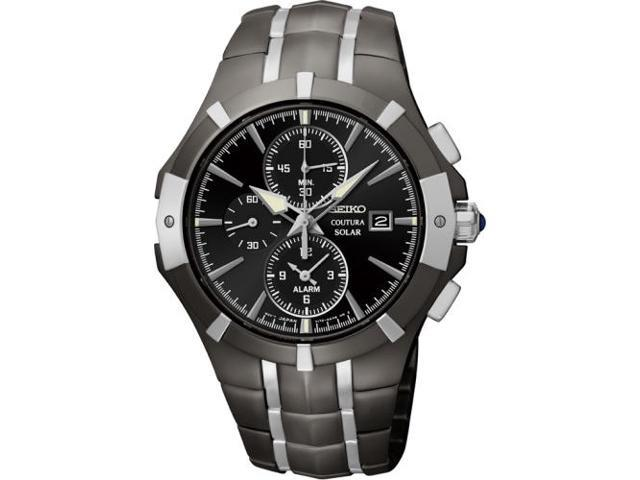 Seiko Coutura Chronograph Black Dial Two-tone Mens Watch Watch SSC199