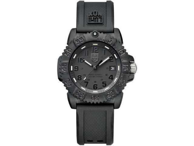 Luminox Colormark Blackout Black Dial Black Rubber Ladies Watch 7051.BO