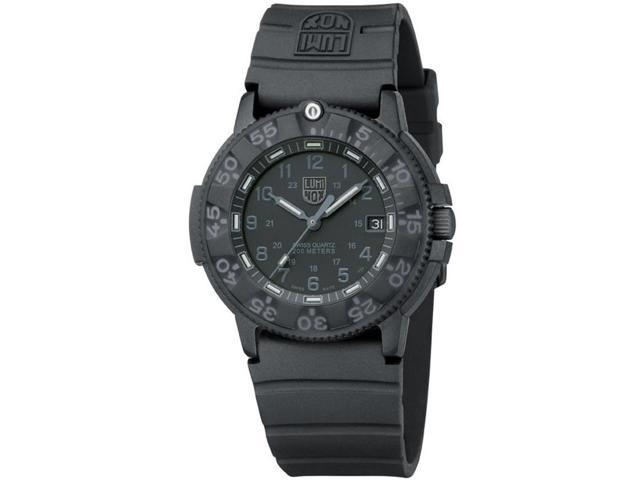 Luminox 3001.BO Men's Blackout Navy Seal Black Dial Dive Watch