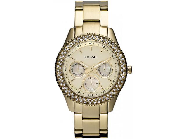 Fossil Stella Gold Dial Gold-tone Steel Ladies Watch ES3101