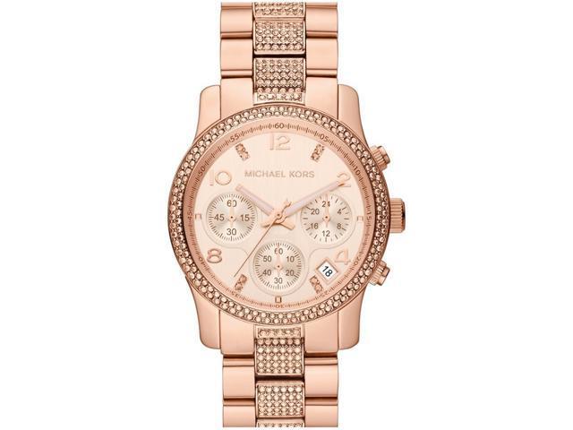 Michael Kors Chronograph Dial Rose Gold-tone Ladies Watch MK5827