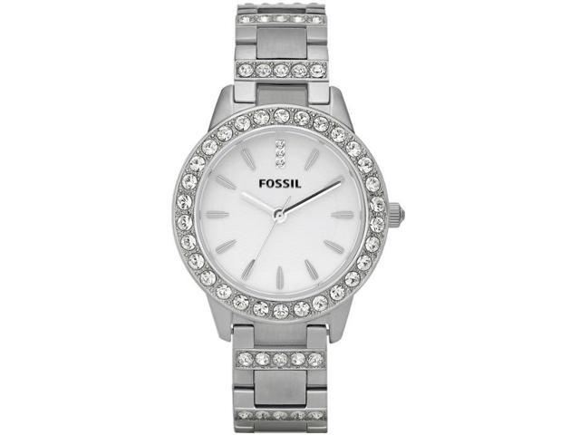 Fossil ES2362 Glitz White Dial Stainless Steel Ladies Watch