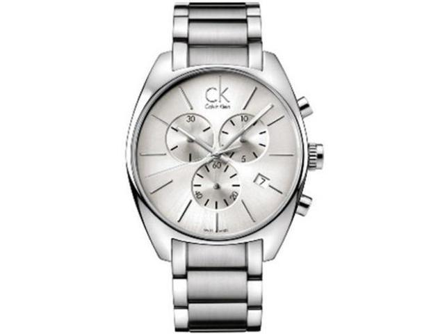 Calvin Klein Men's K2F27126 Silver Stainless-Steel Swiss Quartz Watch with Silver Dial