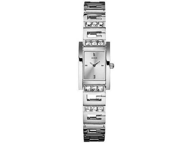 Guess Women's U85108L1 Silver Stainless-Steel Quartz Watch with Silver Dial