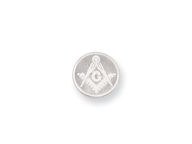 Rhodium-plated with Chain Masonic Tie Tack