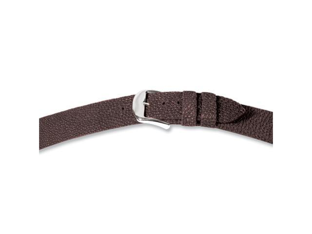 22mm Brown Genuine Stingray Silver-tone Buckle Watch Band