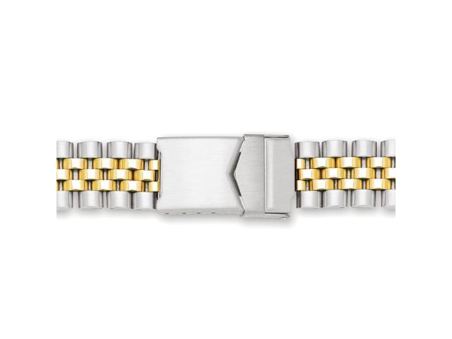 18-22mm Two-tone Jubilee-style w/Deploy Solid Watch Band