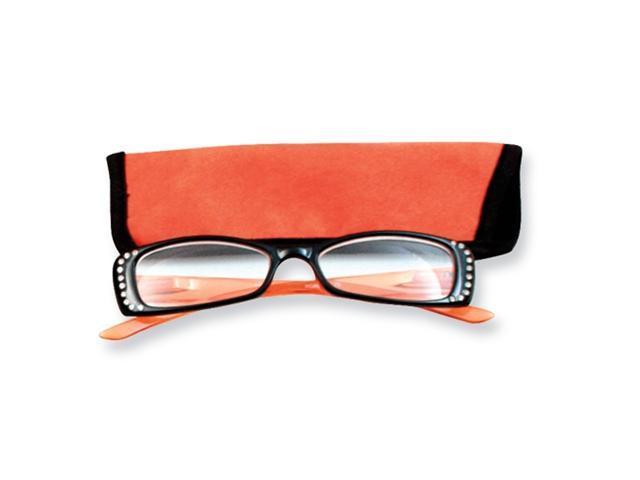Orange Rhinestone 1.25 Magnification  Reading Glasses