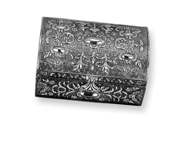 Antiqued Silver-plated Chest Jewelry Box