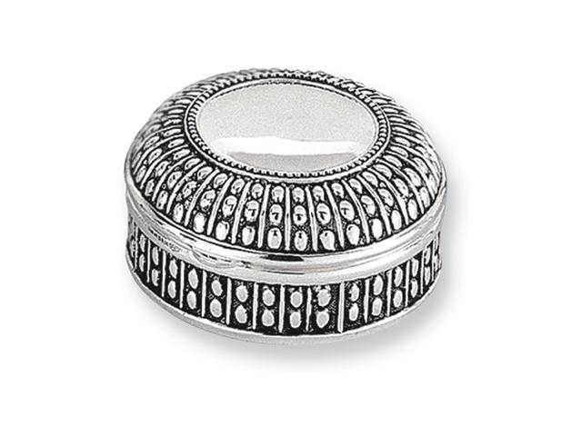 Antiqued Silver-plated Small Round Dot Jewelry Box