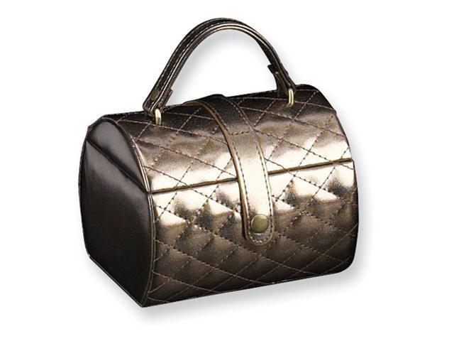 Bronze Leatherette Jewelry Case