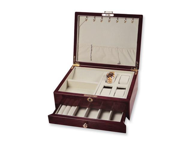 Two-tone Maple Inlay Wood Jewelry Box